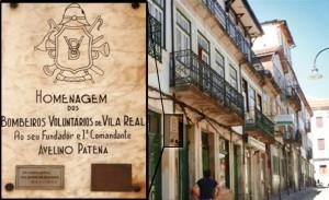 Placa de homenagem na Rua Avelino Patena