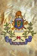 bandeira associação fundo dourado