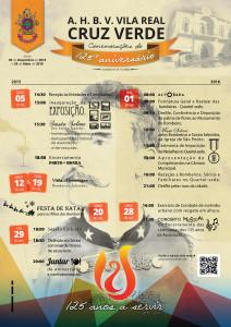 Cartaz do programa das comemorações dos 125 anos da Cruz Verde