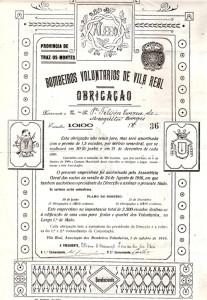 Documento de empréstimo para a construção do quartel