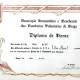 Diploma de Honra da A.H. e Beneficiente dos B.V. de Braga - 23/03/1977