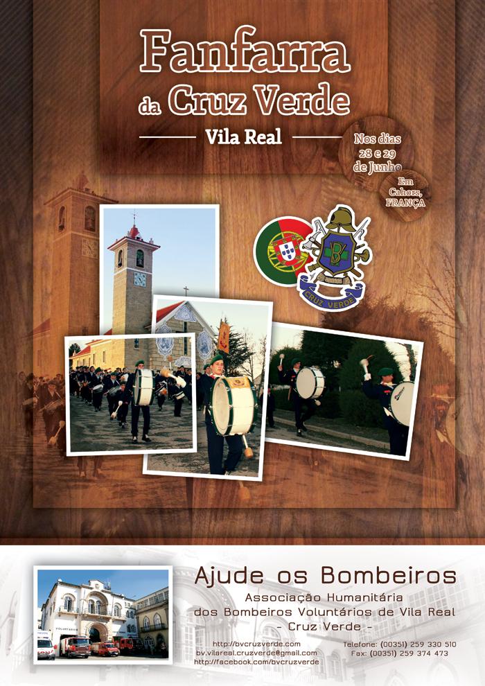 Cartaz publicitário sobre a ida da fanfarra a Cahors.