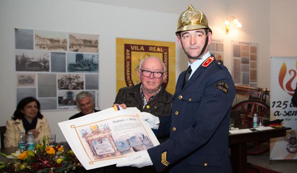 Atribuído o Diploma de Honra ao bombeiro de 2ª classe Fernando Mota