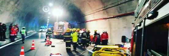 Simulacro túnel Marão - 13Abr2016