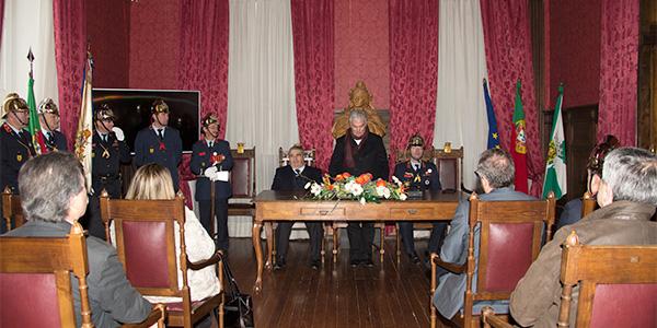 Apresentação de cumprimentos na Câmara Municipal